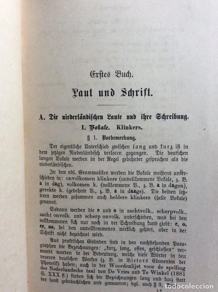 Libros antiguos: Niederländische Konversations - grammatik, por Valette, Théodore G. Año 1891. Muy raro. - Foto 4 - 286877028
