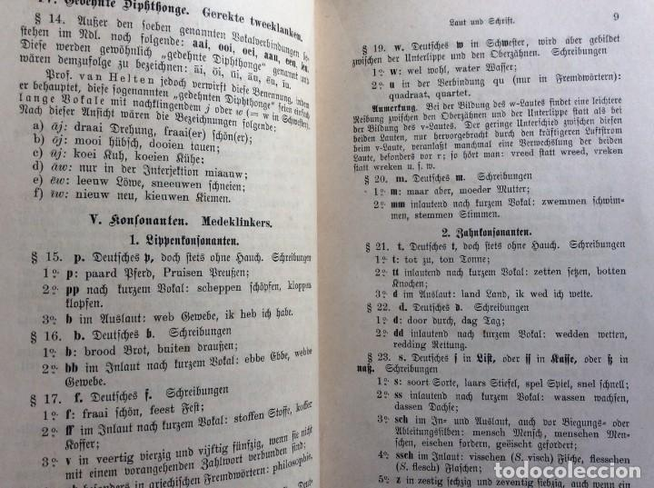 Libros antiguos: Niederländische Konversations - grammatik, por Valette, Théodore G. Año 1891. Muy raro. - Foto 5 - 286877028