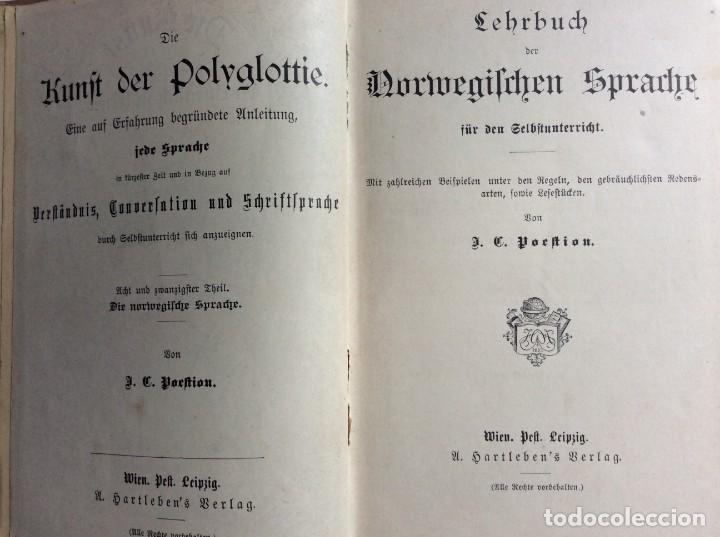 Libros antiguos: Libro de texto del idioma noruego para autoinstrucción. Por J.C. Poestion, cerca de 191? - Foto 3 - 286881623