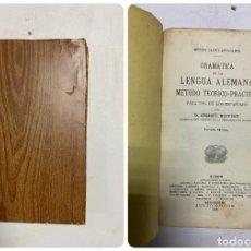 Libri antichi: GRAMÁTICA DE LA LENGUA ALEMANA. MÉTODO TEÓRICO-PRÁCTICO. ENRIQUE RUPPERT. MADRID, 1909.. Lote 287193698