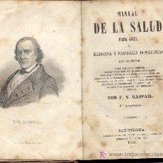 Libros antiguos: MANUAL DE LA SALUD PARA 1853. Lote 6379426