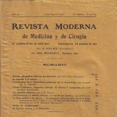 Libros antiguos: REVISTA MÉDICA. MEDICINA & CIRUGÍA. DR. F. HELME FUNDADOR DR. FÉLIX REGNAULT. AÑO 24, 1926.. Lote 12953204