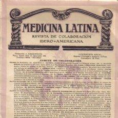 Libros antiguos: REVISTA MÉDICA. MEDICINA LATINA. IBERO - AMERICANA. AÑO V, DICIEMBRE DE 1932, Nº 57.. Lote 8926975