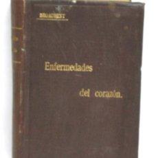 Libros antiguos: ENFERMEDADES DEL CORAZON BROADBENT BIBLIOTECA ESCOGIDA EL SIGLO MÉDICO MADRID 1901. Lote 4937151