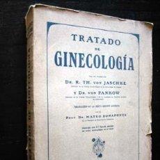 Libros antiguos: TRATADO DE GINECOLOGÍA - POR TH. VON JASCHKE Y VON PANKOV. Lote 26956161