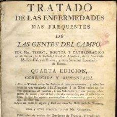 Libros antiguos: 1781: ENFERMEDADES DE LAS GENTES DEL CAMPO. MEDICINA. FARMACIA. Lote 26731854