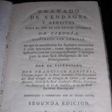 Libros antiguos: MEDICINA - FRANCISCO CANIVELL, TRATADO DE VENDAGES Y APOSITOS PARA LOS COLEGIOS DE CIRUGIA 1786. Lote 12181062