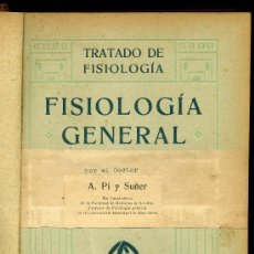 Libros antiguos: MEDICINA. FISOLOGIA GENERAL POR EL DOCTOR A. PI Y SUÑER. GUSTAVO GILI, EDITOR. Lote 26532051