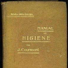 Libros antiguos: MEDICINA. MANUAL DE HIGIENE POR J. COURMONT, BIBLIOTECA MEDICO QUIRURGICA. HIJOS DE J. ESPASA-EDIT.. Lote 10492944
