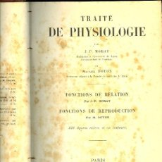 Libros antiguos: MEDICINA.TRAITE DE PHYSIOLOGIE PAR J.P. MORAT ET M. DOYON.TOME 5º. PARIS MASSON EDIT. 1918. Lote 12850945