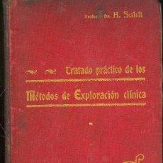 Libros antiguos: MEDICINA. METODOS DE EXPLORACION MEDICA POR EL DR. H.SAHLI. 5ªED. TOMO 2º.SALVAT Y CIA. . Lote 10655438