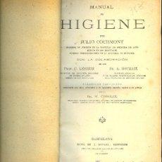 Libros antiguos: MEDICINA. MANUAL DE HIGIENE POR J. COURMONT . HIJOS DE J. ESPASA BARCELONA 1920 APROX. Lote 10658181