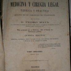 Libros antiguos: TRATADO DE MEDICINA Y CIRUGÍA LEGAL TEÓRICA Y PRÁCTICA. TOMO II. MEDICINA LEGAL.. Lote 26805078
