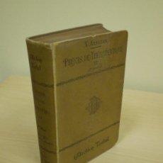 Libros antiguos: LIBRO MEDICINA 1903: COLECCION TESTUT. PRINCIPIOS DE TERAPÉUTICA II. X. ARNOZAN. EN FRANCÉS. Lote 12621329