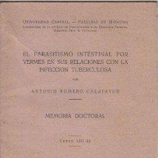 Libros antiguos: 0645- MEMORIA DOCTORAL DE LA FACULTAD DE MEDICINA DE LA UNIVERSIDAD CENTRAL. Lote 14185763