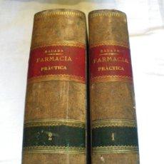 Libros antiguos: FARMACIA PRÁCTICA. RICARDO SÁBADA Y GARCÍA DEL REAL. (OBRA COMPLETA). Lote 27513115