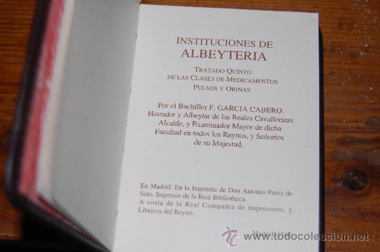 Libros antiguos: EDICION NUMERADA DEL LIBRO INSTITUCIONES DE ALBEYTERIA - Foto 2 - 17576342