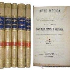 Libros antiguos: 1880 - ARTE MEDICA - 5 TOMOS EN PERGAMINO - CKERNER. Lote 19153926