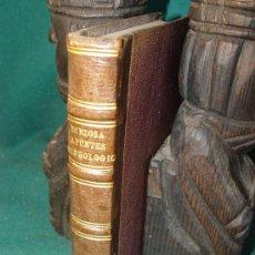 Libros antiguos: APUNTES HIDROLOGICOS - HIDROLOGIA MEDICA - DR. A. BERZOSA - DIRECTOR BAÑOS ALANJE BADAJOZ - 1867 -. Lote 27638508
