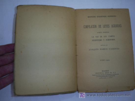 Libros antiguos: La voz de los campos Absentismo y agrofobia dedicatoria Autor MARCOS IZQUIERDO 1924 RM44302 - Foto 3 - 25636739