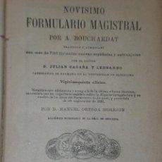 Libros antiguos: NOVÍSIMO FORMULARIO MAGISTRAL.(1901). Lote 21366343