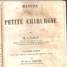 Libros antiguos: CHIRURGIE DE JAMAIN CON LAMINAS MUY INTERESANTES !. Lote 21673085