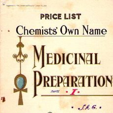 Libros antiguos: PRICE LIST. CHEMISTS' OWN NAME. MEDICINAL PREPARATIONS. JANUARY 31, 1914. Lote 25321843