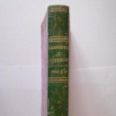 Libros antiguos: REVISTA DE TERAPEUTICA Y FARMACIA TOMOS TERCERO Y CUARTO EN UNO SOLO AÑOS 1889-90-91 - 300 + 261 PÁG. Lote 26777458