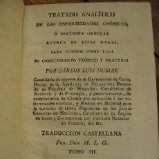 Libros antiguos: TRATADO ANALITICO DE ENFERMEDADES CRONICAS TOMO III 1817 319 PGS PIEL Y ORO. Lote 27414098