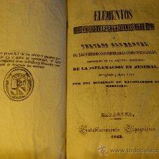 Libros antiguos: ELEMENTOS DE PIRETOLOGIA. TRATADO DE FIEBRES ESENCIALES - ZARAGOZA -1843. MEDICINA.. Lote 26365385