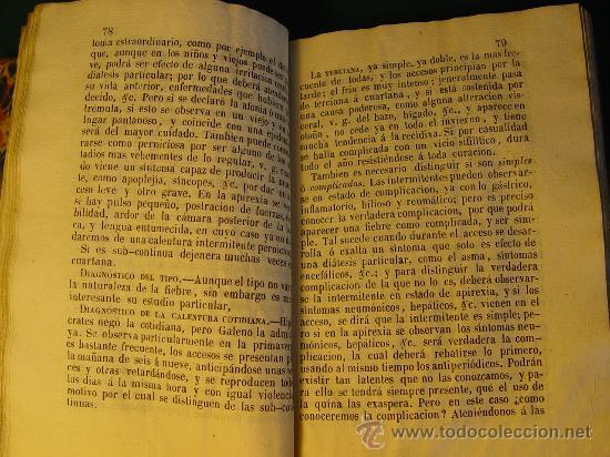 Libros antiguos: ELEMENTOS DE PIRETOLOGIA. TRATADO DE FIEBRES ESENCIALES - ZARAGOZA -1843. MEDICINA. - Foto 7 - 26365385