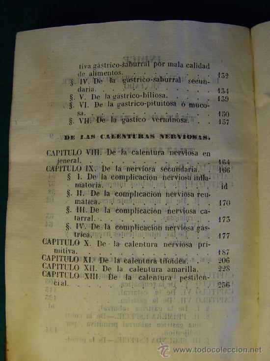 Libros antiguos: ELEMENTOS DE PIRETOLOGIA. TRATADO DE FIEBRES ESENCIALES - ZARAGOZA -1843. MEDICINA. - Foto 11 - 26365385