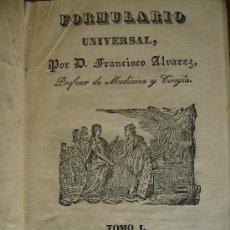 Libros antiguos: 2 MAGNIFICOS TOMOS 2 FORMULARIO UNIVERSAL UNAS 600PGS CADA UNO EN PIEL Y ORO . Lote 25876728