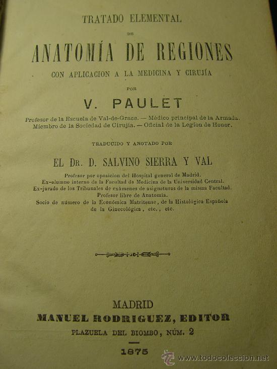 tratado anatomia de regiones - paulet - salvino - Comprar Libros ...