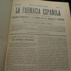 Libros antiguos: LA FARMACIA ESPAÑOLA - REVISTA CIENTIFICA Y PROFESIONAL - AÑO 1909 -. Lote 27638592
