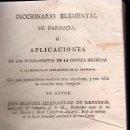 Libros antiguos: DICCIONARIO ELEMENTAL DE FARMACIA 1798 PRIMERA EDICION. MANUEL HERNANDEZ. EDITADO EN MADRID. 2 TOMOS. Lote 26799097