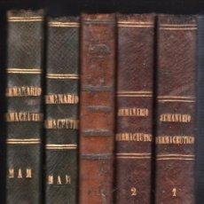 Libros antiguos: SEMANARIO FARMACEUTICO - 5 TOMOS 1873. Lote 25943061