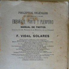Libros antiguos: PRECEPTOS HIGIÉNICOS QUE DEBE OBSERVAR LA MUJER DURANTE EL EMBARAZO, PARTO Y PUERPERIO. Lote 27402619