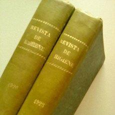 Libros antiguos: REVISTA DE HIGIENE. 2 TOMOS. AÑOS 1925 Y 1926.. Lote 27576380