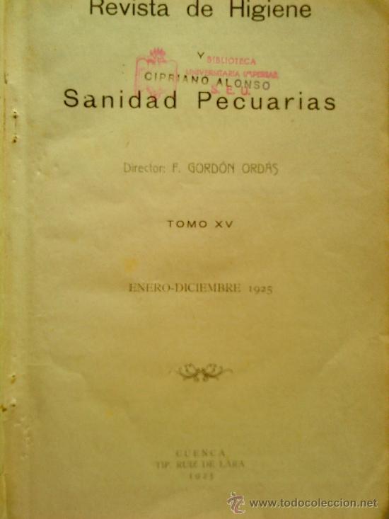 Libros antiguos: REVISTA DE HIGIENE. 2 TOMOS. AÑOS 1925 Y 1926. - Foto 2 - 27576380