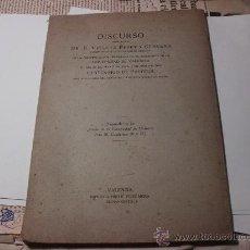 Libros antiguos: DISCURSO DE VICENTE PESET UNIVERSIDAD DE VALENCIA, CENTENARIO DE PASTEUR, 1923. L.24238. Lote 27996836