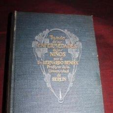 Libros antiguos: 1059- 'TRATADO DE LAS ENFERMEDADES DE LOS NIÑOS' DR. BERNARDO BENDIX VERTIDO DE LA 6ª ED. 1913. Lote 28285987
