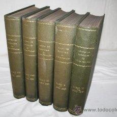 Libros antiguos: 1896- LOTE DE 5 TOMOS 'JOURNAL DE RADIOLOGIE ET D´ELECTROLOGIE', COLLECTIVE, AÑO 1923-1927. Lote 28528351