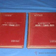 Libros antiguos: ELEMENTOS DE ANATOMÍA Y FISIOLOGÍA MÉDICAS. Lote 28537609