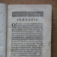 Libros antiguos: OBSERVATIONES MEDICO-PRACTICAS. THIEULLIER (LUDOVICO-JOANNIS). Lote 28749345