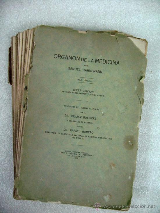 el organon de hahnemann