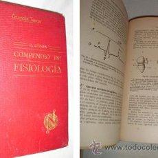 Libros antiguos: COMPENDIO DE FISIOLOGÍA. HÉDON E. SALVAT. BARCELONA. 1921. . Lote 3462913