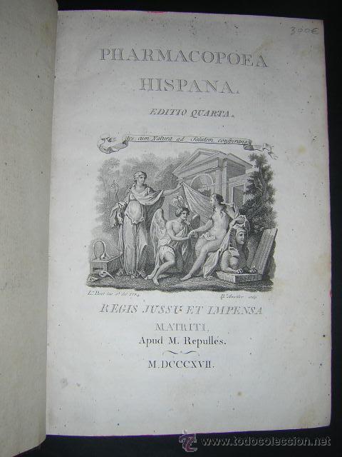 Libros antiguos: 1817 - PHARMACOPOEA HISPANA - EDITIO QUARTA - Foto 2 - 29636731