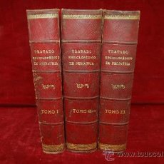 Libros antiguos: 3 TOMOS. TRATADO ENCICLOPEDICO DE PEDIATRIA. FINALES S.XIX. . Lote 29976268