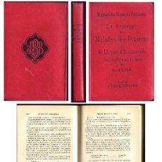 Libros antiguos: LA PRATIQUE DES MALADIES DES POUMONS ET DE L'APPAREIL RESPIRATORIE. MEDICINA - 1894. Lote 30137752